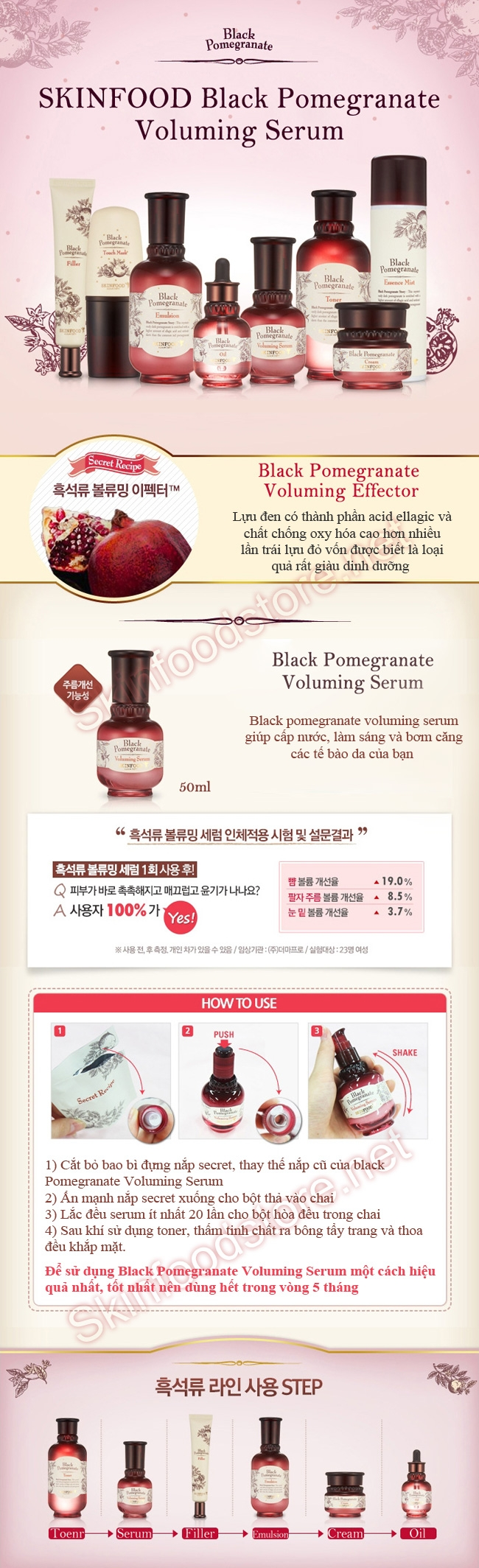 Black pomegranate voluming serum